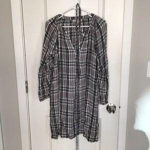 Loft plaid shirt dress